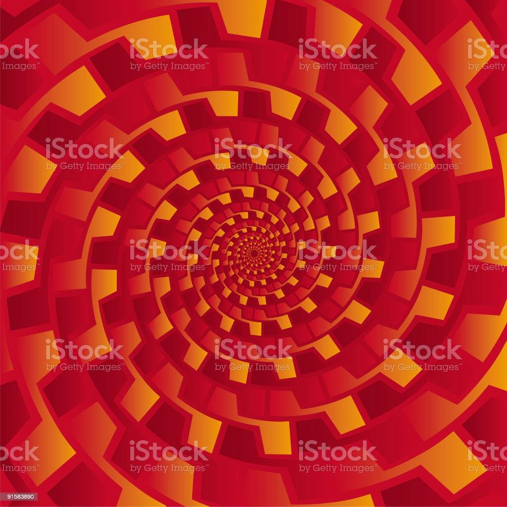 Pseudo spiral 06 vector art illustration