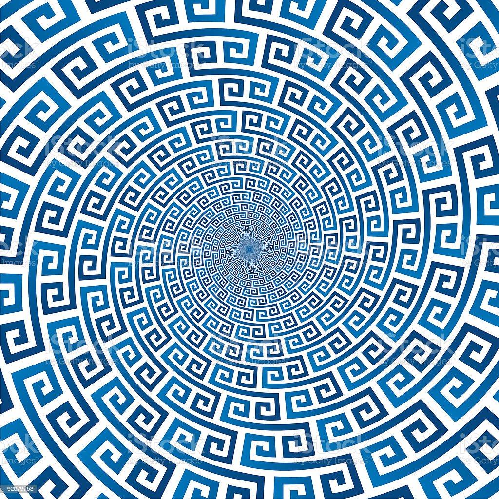Pseudo spiral 07 vector art illustration