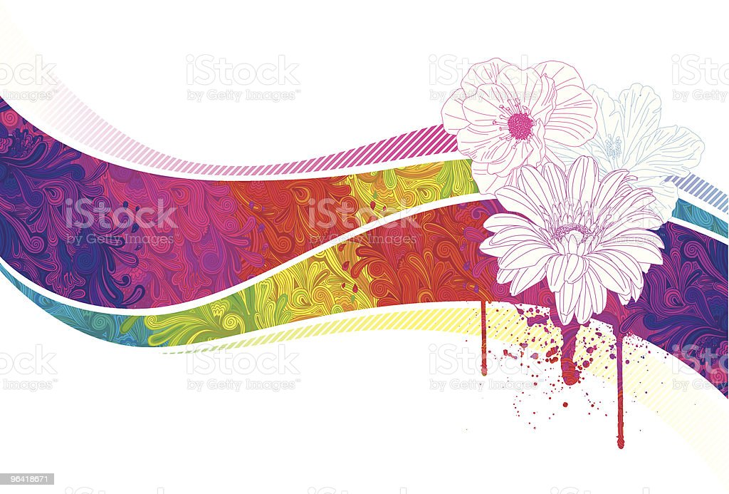 Psychedelic Flowers vector art illustration