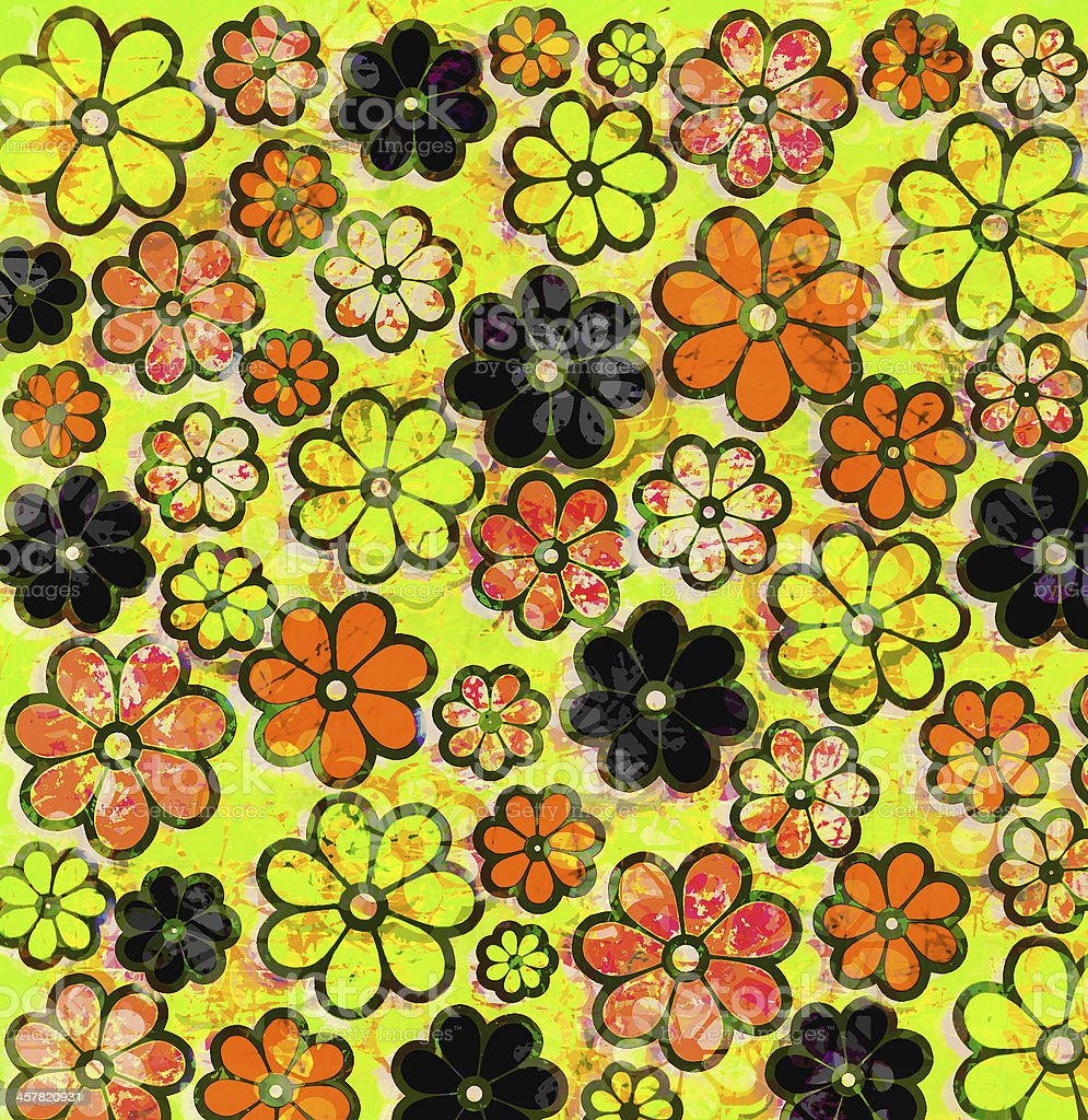 Psychedelic graffiti Flower Art Pattern vector art illustration