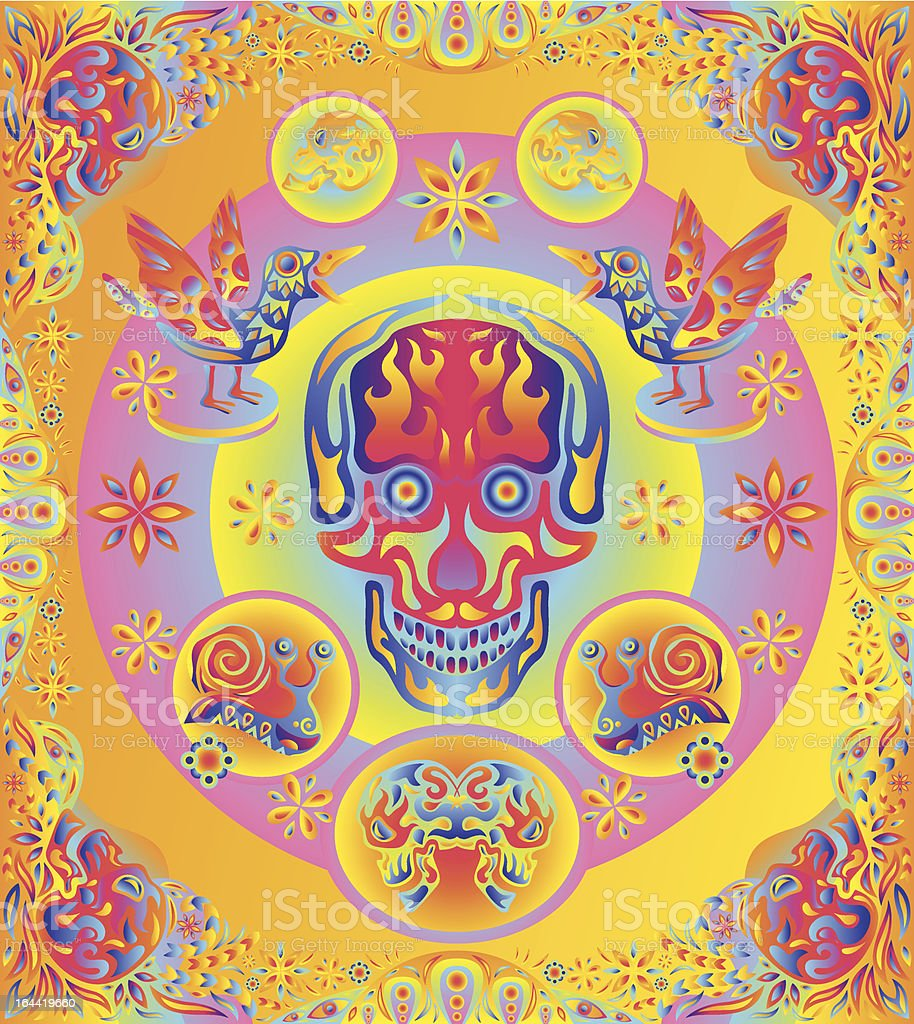 Psychedelic ornament vector elements royalty-free stock vector art