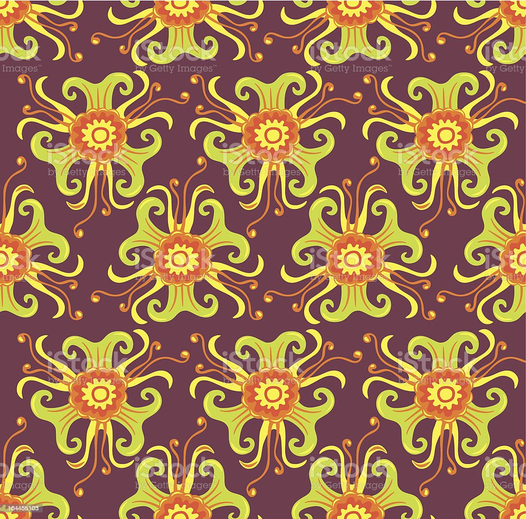 Psychedelic seamless pattern royalty-free stock vector art