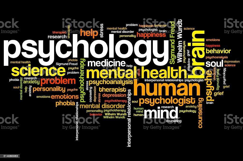 Psychology vector art illustration