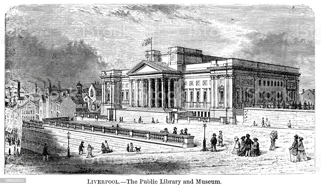 Public Library and Museum, Liverpool royalty-free stock vector art