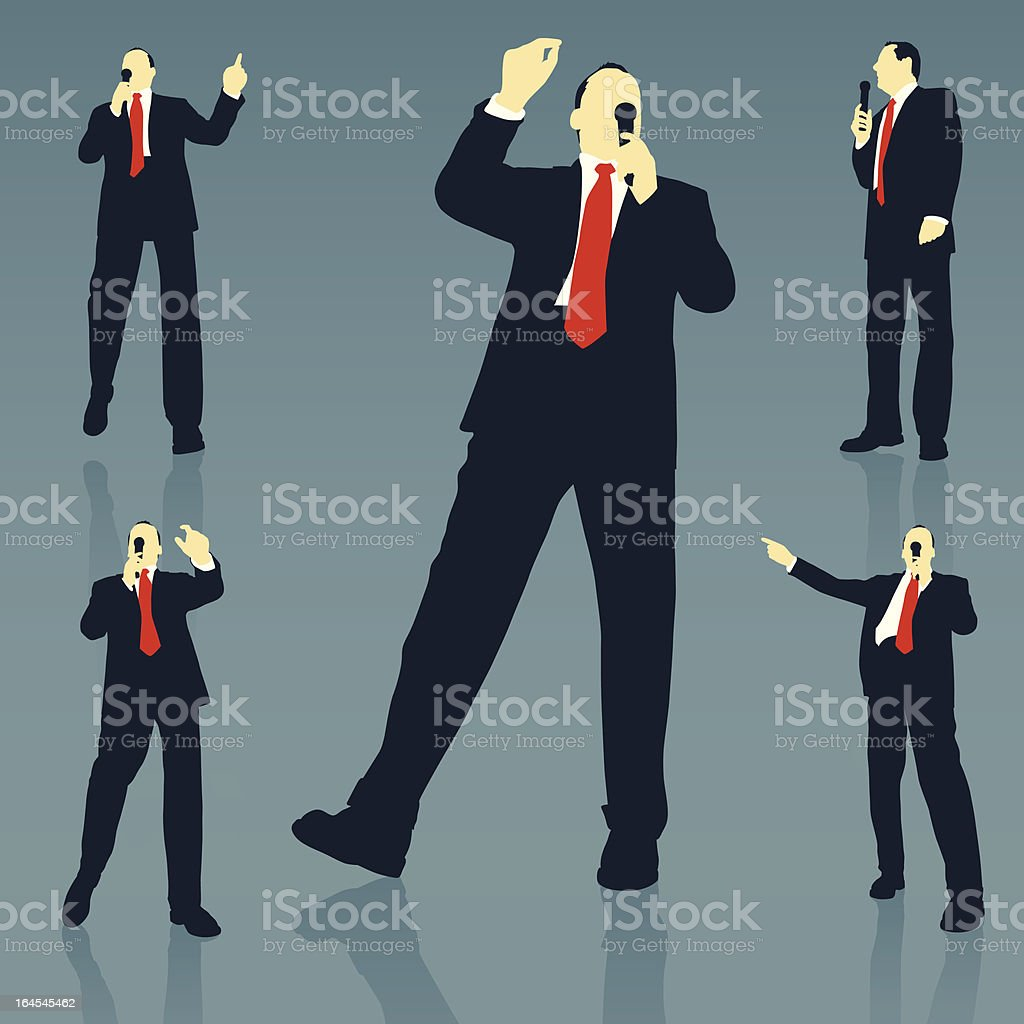 Public Speaker royalty-free stock vector art