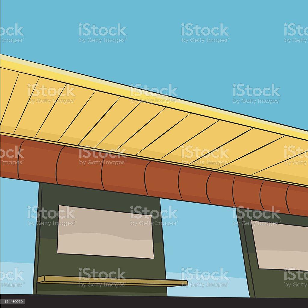 Public Transit Station Platform royalty-free stock vector art