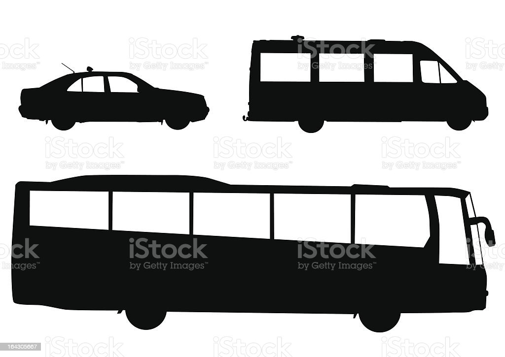 Public transport royalty-free stock vector art
