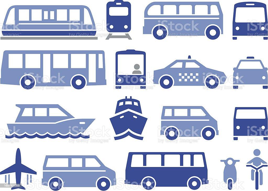 Public Transportation - Pro Series vector art illustration