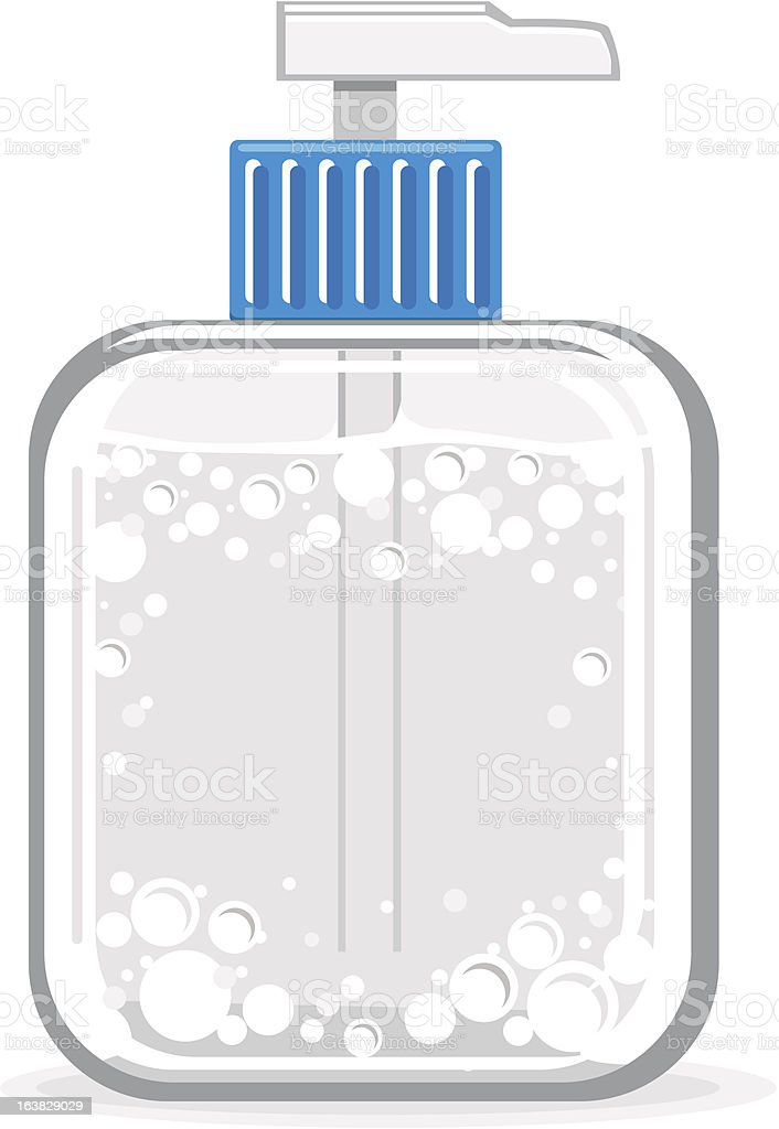 pump bottle with liquid vector art illustration