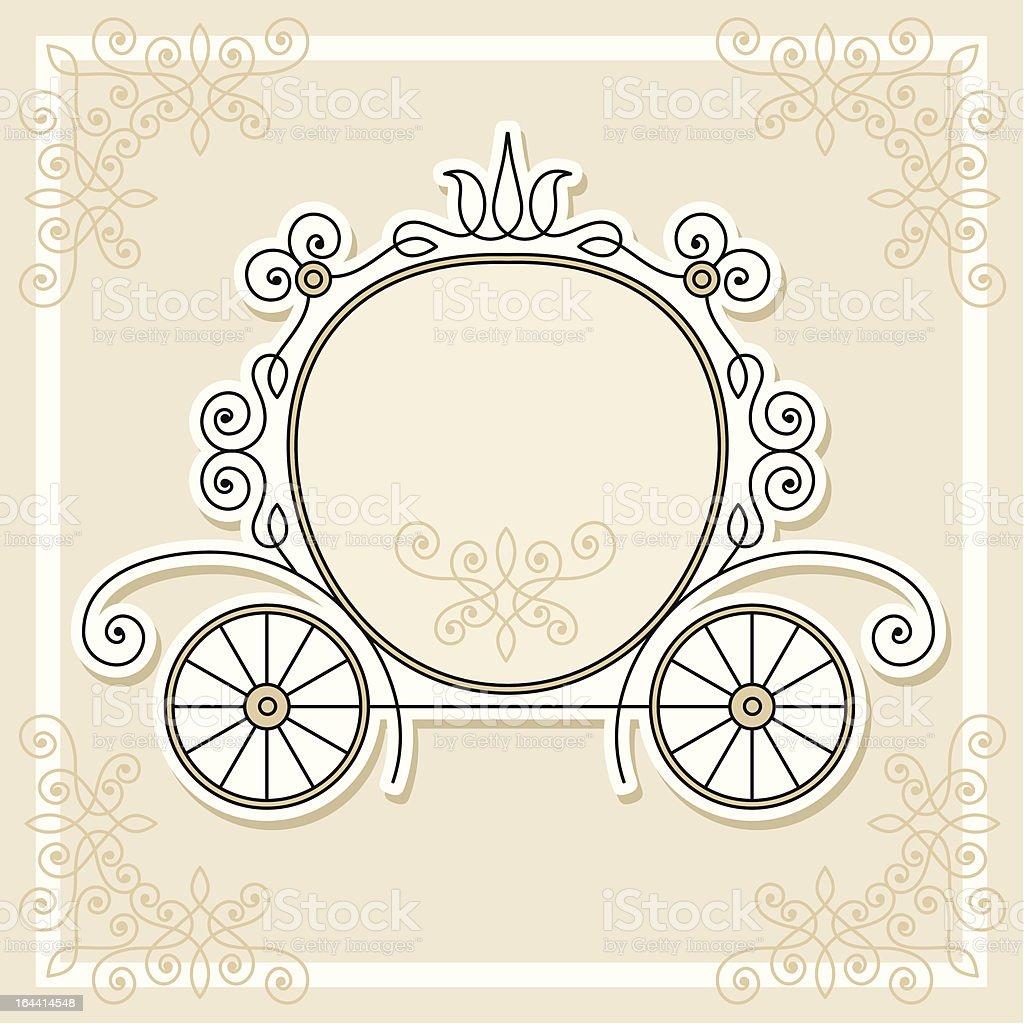 pumpkin carriage vector art illustration
