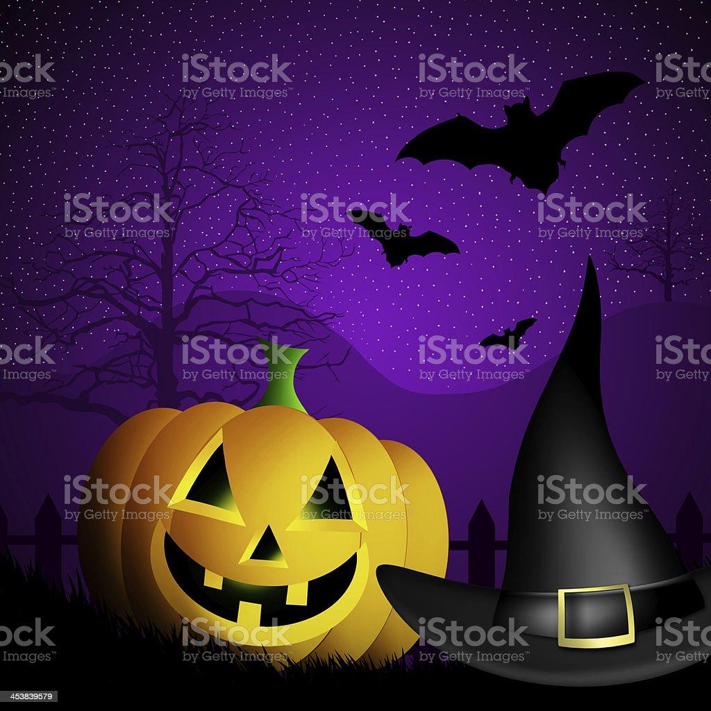 Pumpkin for Halloween royalty-free stock vector art