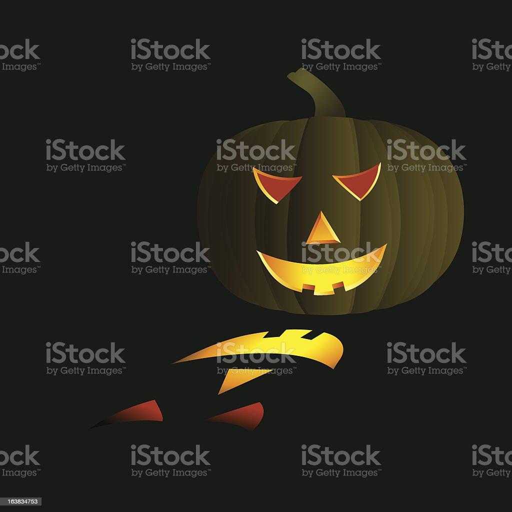 pumpkin vector art illustration