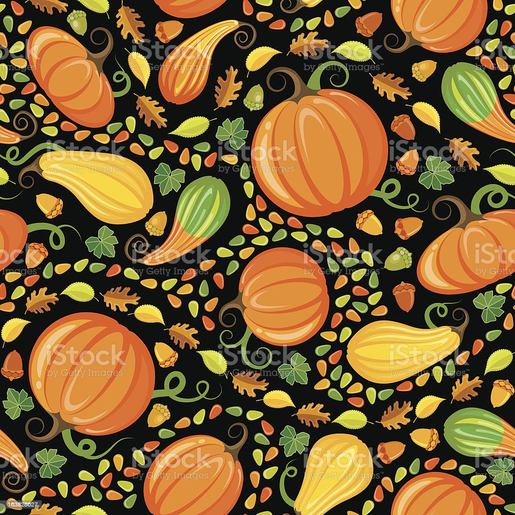 Pumpkin Patch Seamless Pattern royalty-free stock vector art