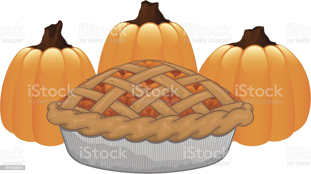 Pumpkin Pie royalty-free stock vector art