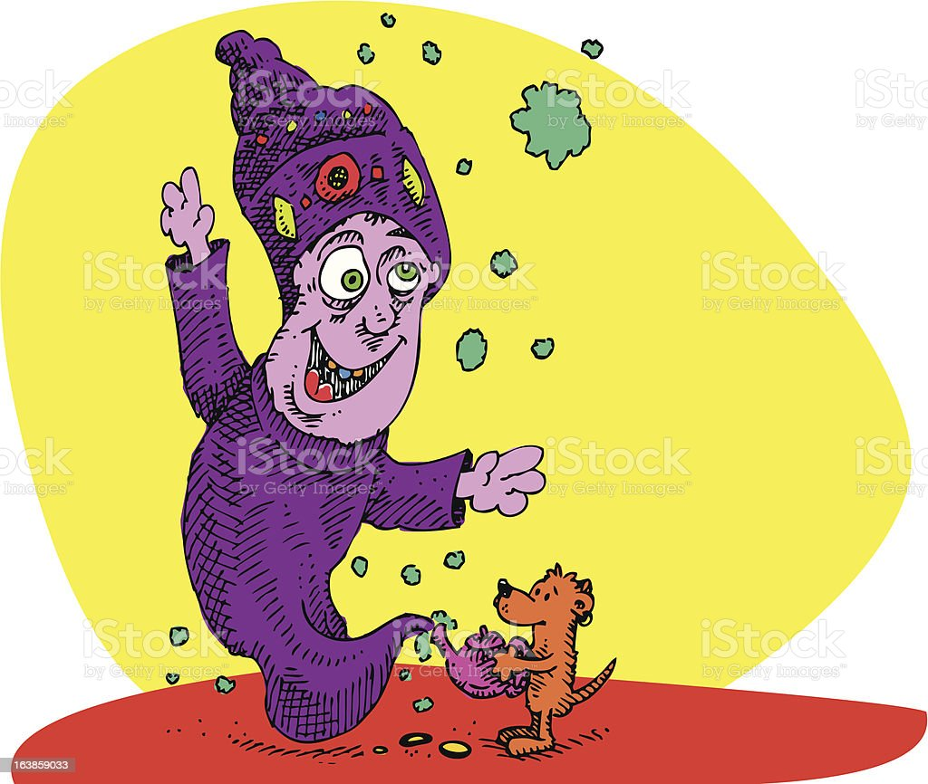 Pup and Genie royalty-free stock vector art