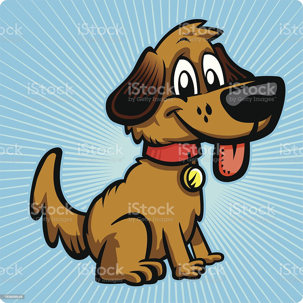 Puppy Dog vector art illustration
