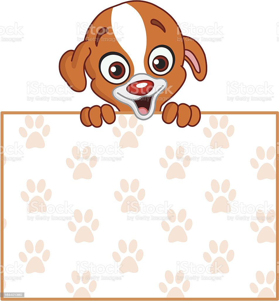 Puppy with sign royalty-free stock vector art