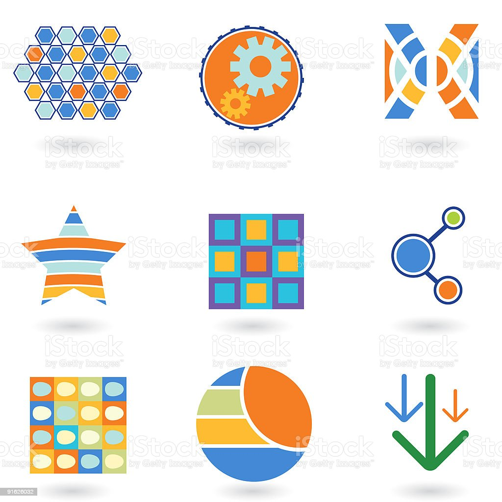 Purlee Design Elements 2 royalty-free stock vector art