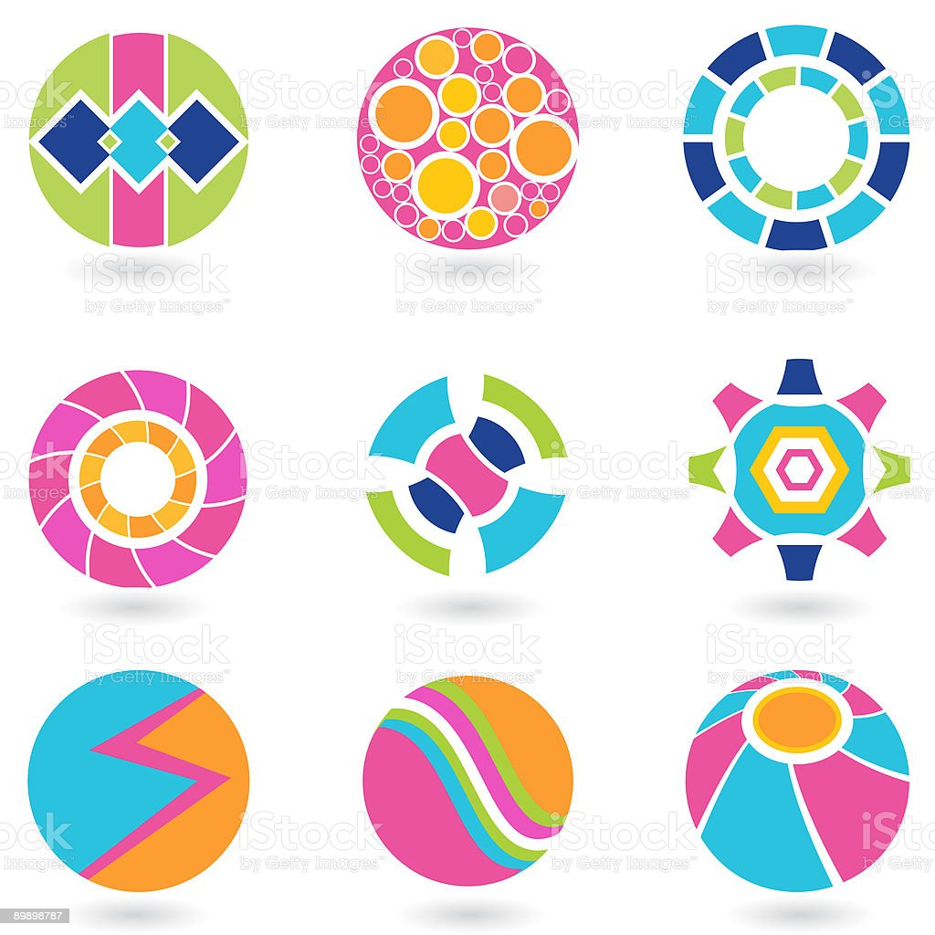 Purlee Design Elements royalty-free stock vector art
