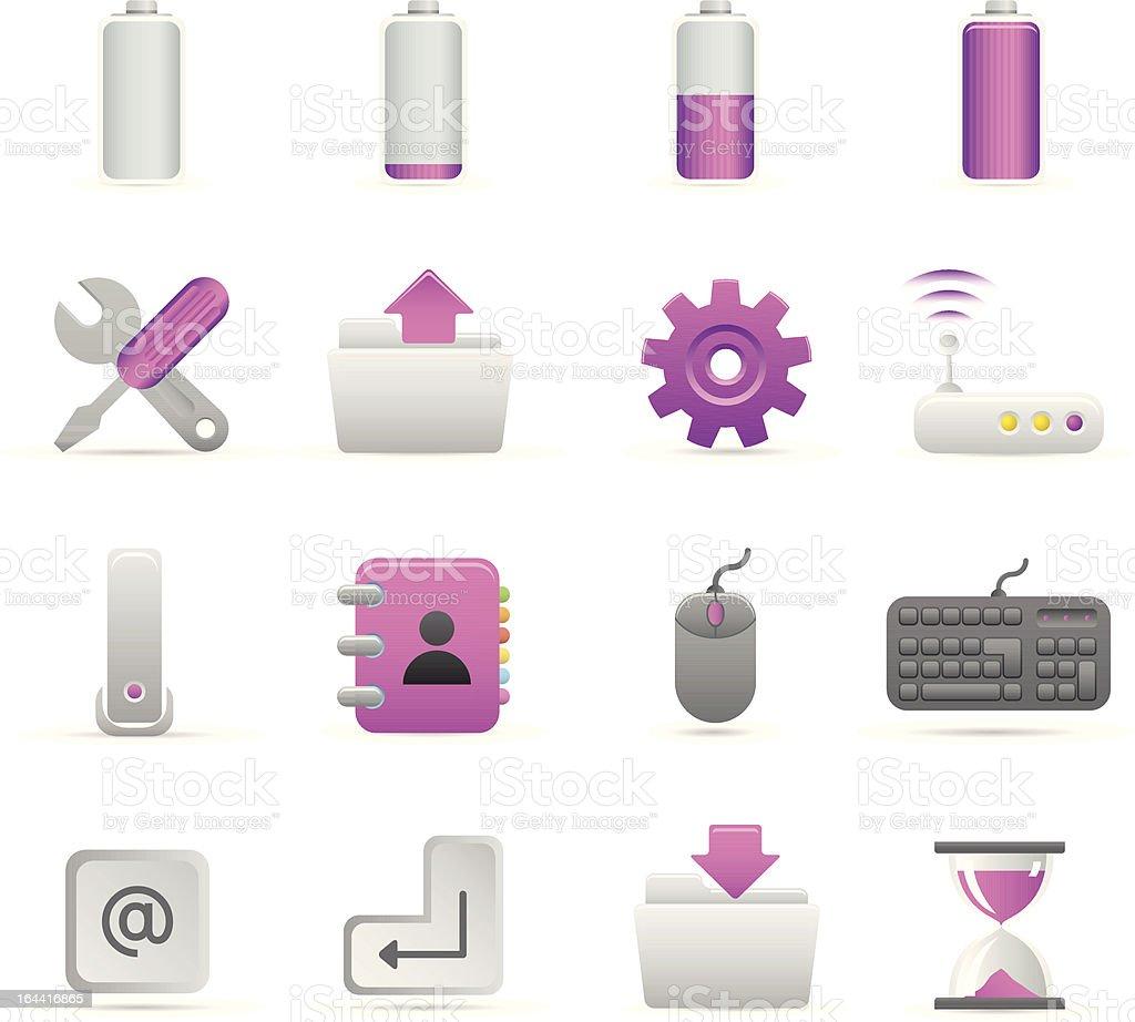 Purple komputer ikony stockowa ilustracja wektorowa royalty-free