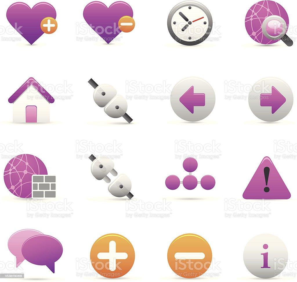 Purple Internet ikony stockowa ilustracja wektorowa royalty-free