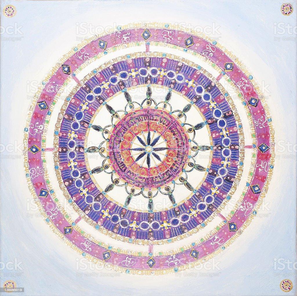 Púrpura Mandala illustracion libre de derechos libre de derechos