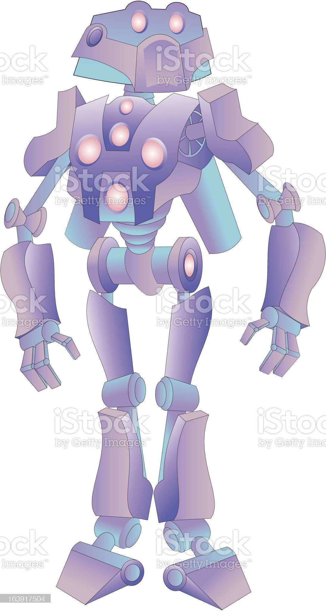 purple robot royalty-free stock vector art