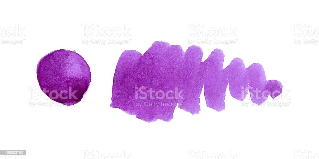 Purple watercolor design element royalty-free stock vector art