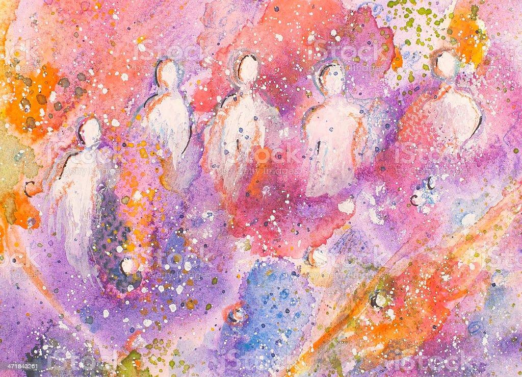 Púrpura mundo illustracion libre de derechos libre de derechos