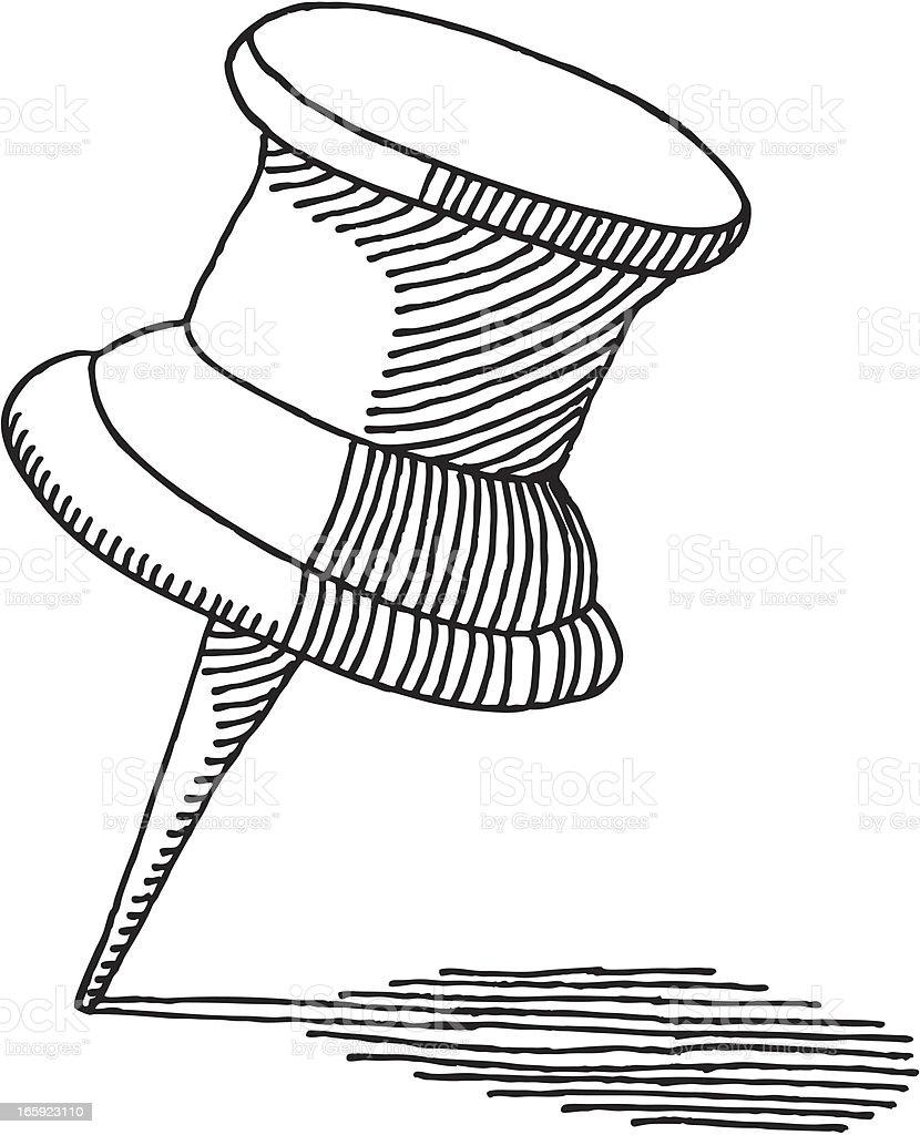Büromaterial clipart  Push Pin Zeichnung Vektor Illustration 165923110   iStock