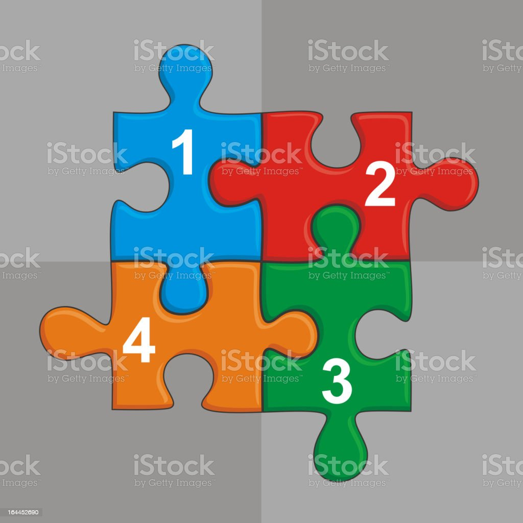 Puzzle and place for your text royalty-free stock vector art
