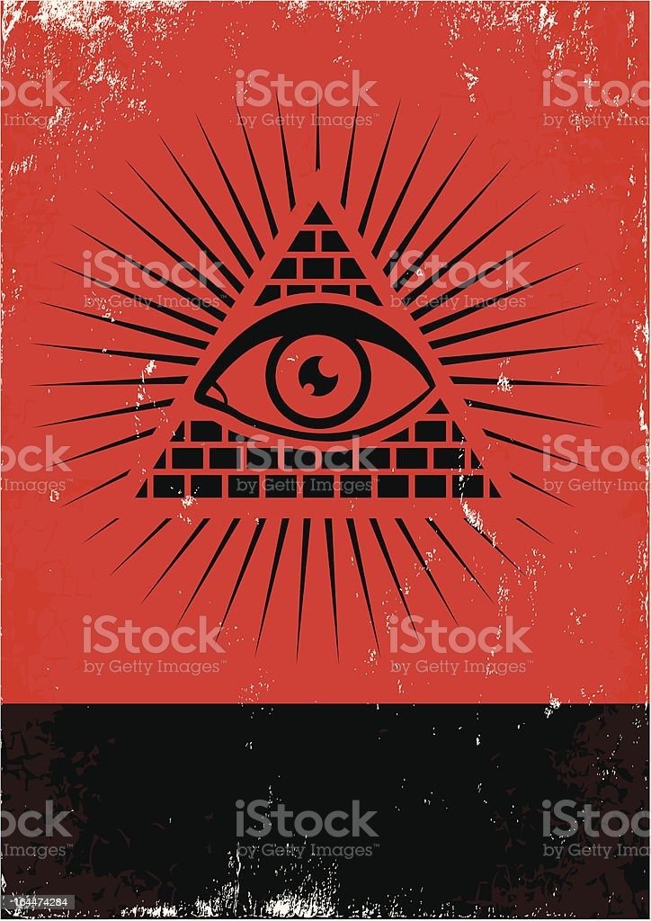 pyramid and the eye royalty-free stock vector art