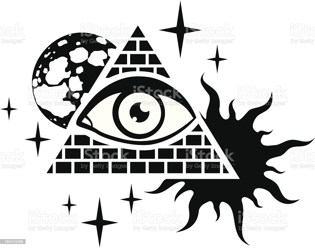 pyramid with the eye royalty-free stock vector art