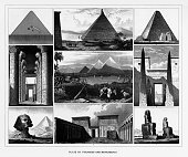 Pyramids and Monuments Engraving