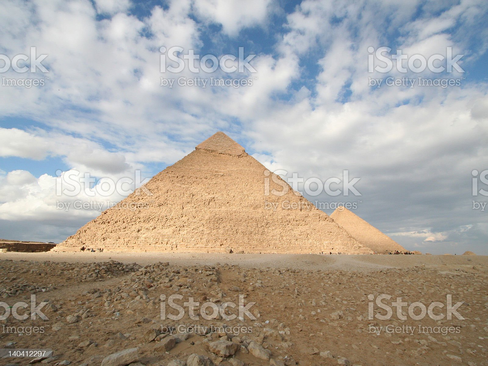Pyramids of Giza royalty-free stock vector art