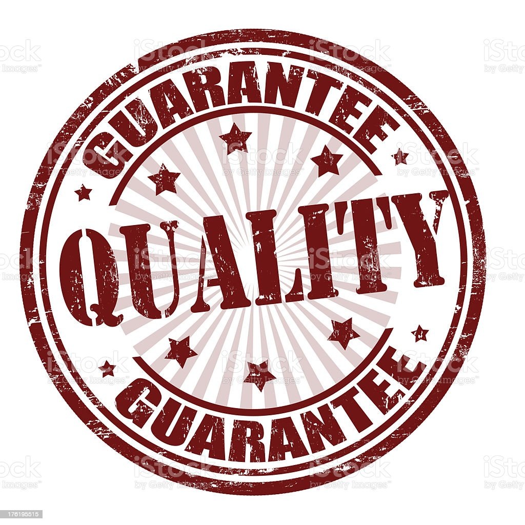 Quality guarantee stamp royalty-free stock vector art
