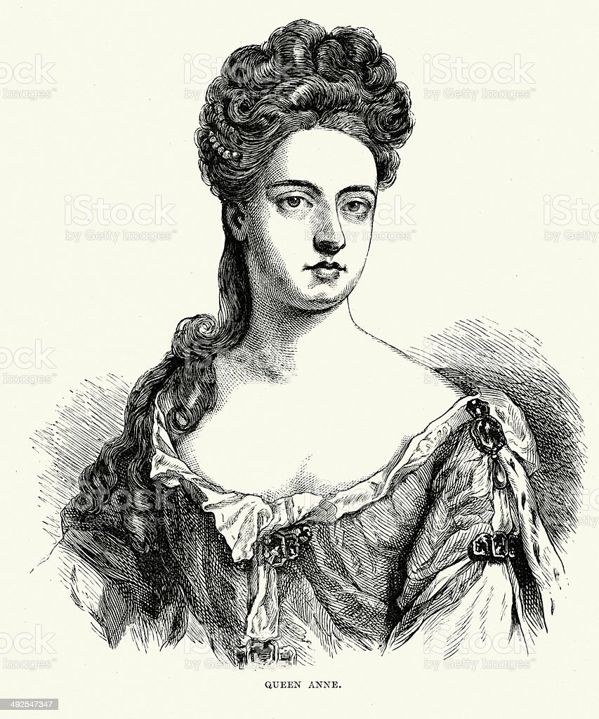 Queen Anne royalty-free stock vector art