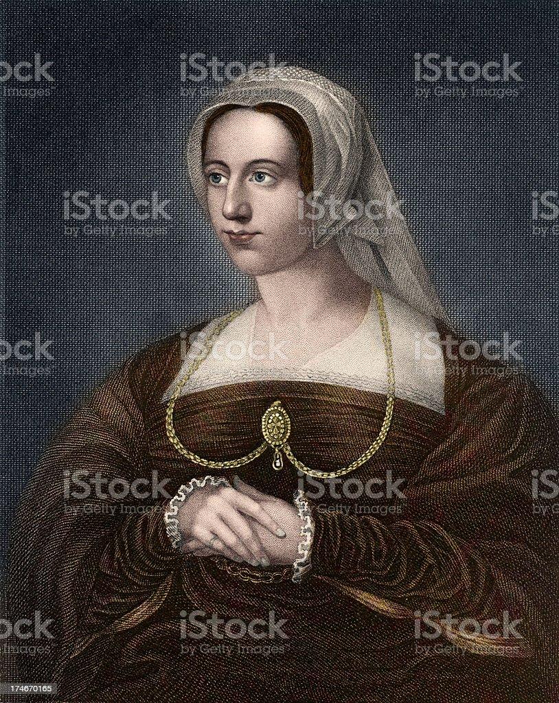 Queen Catherine Parr royalty-free stock vector art