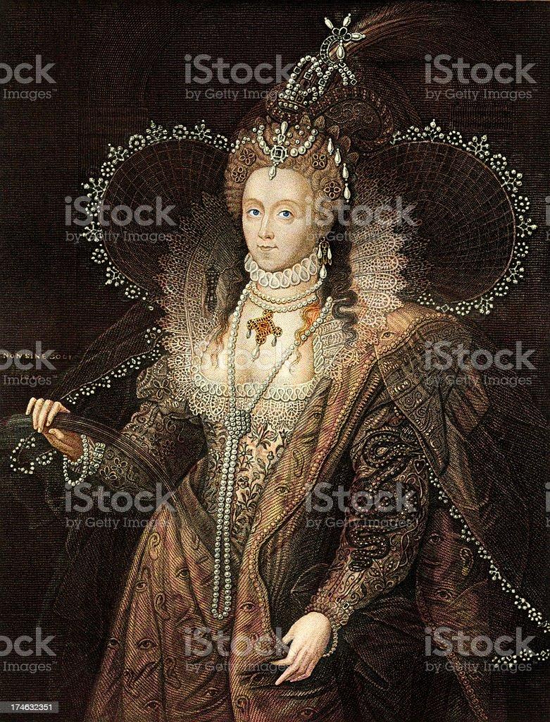 Queen Elizabeth I vector art illustration