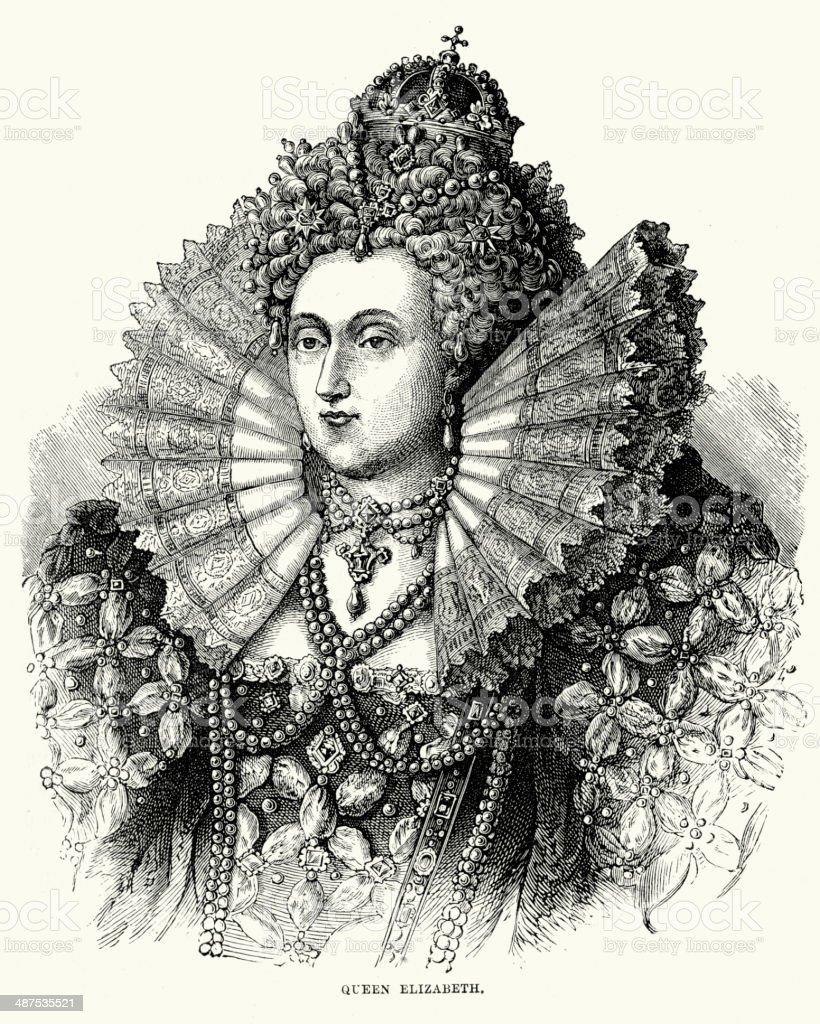 Queen Elizabeth I royalty-free stock vector art