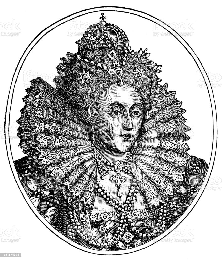 Queen Elizabeth I Of England stock photo