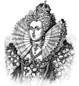 Queen Elizabeth - Victorian Engraving