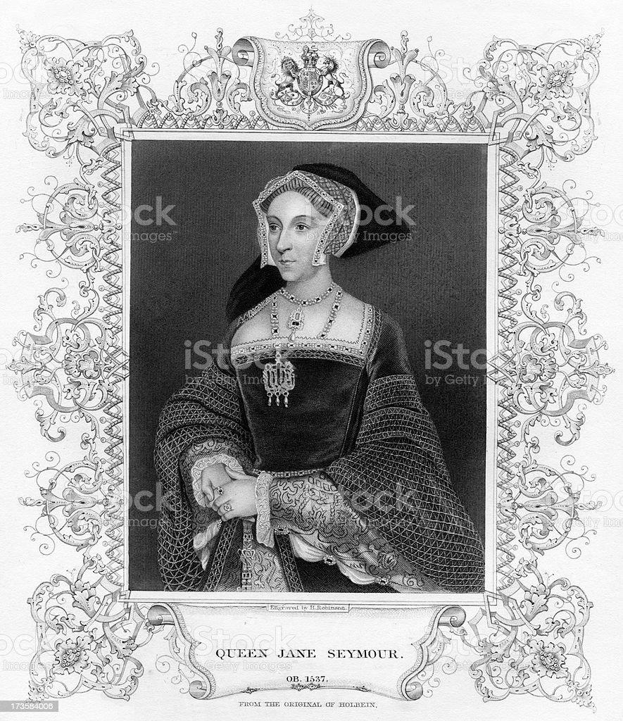 Queen Jane Seymour royalty-free stock vector art