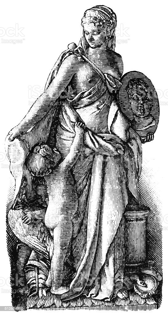 Queen Marie of France vector art illustration