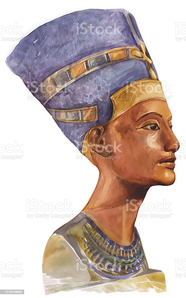 Queen Nefertiti vector art illustration