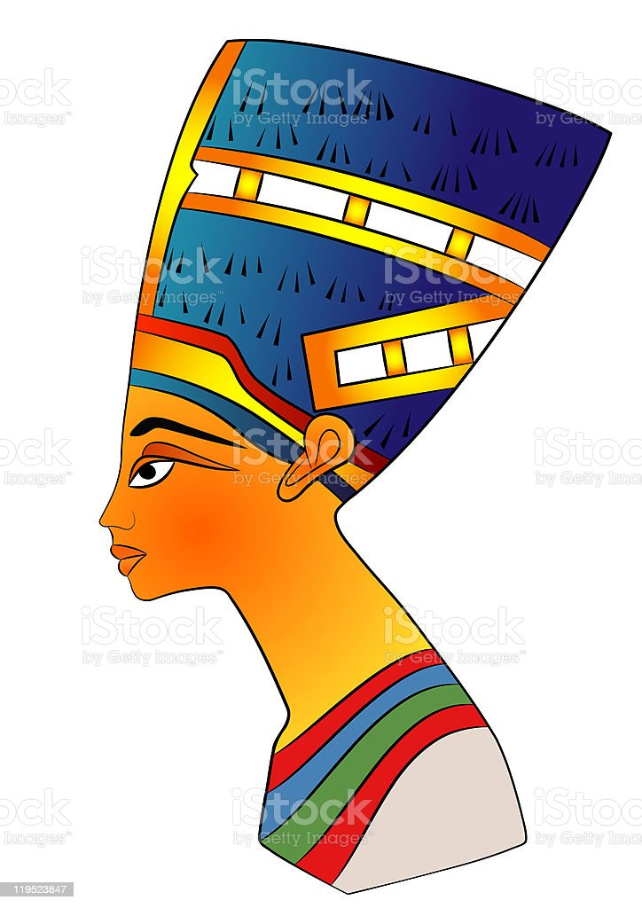 Queen of Ancient Egypt vector art illustration