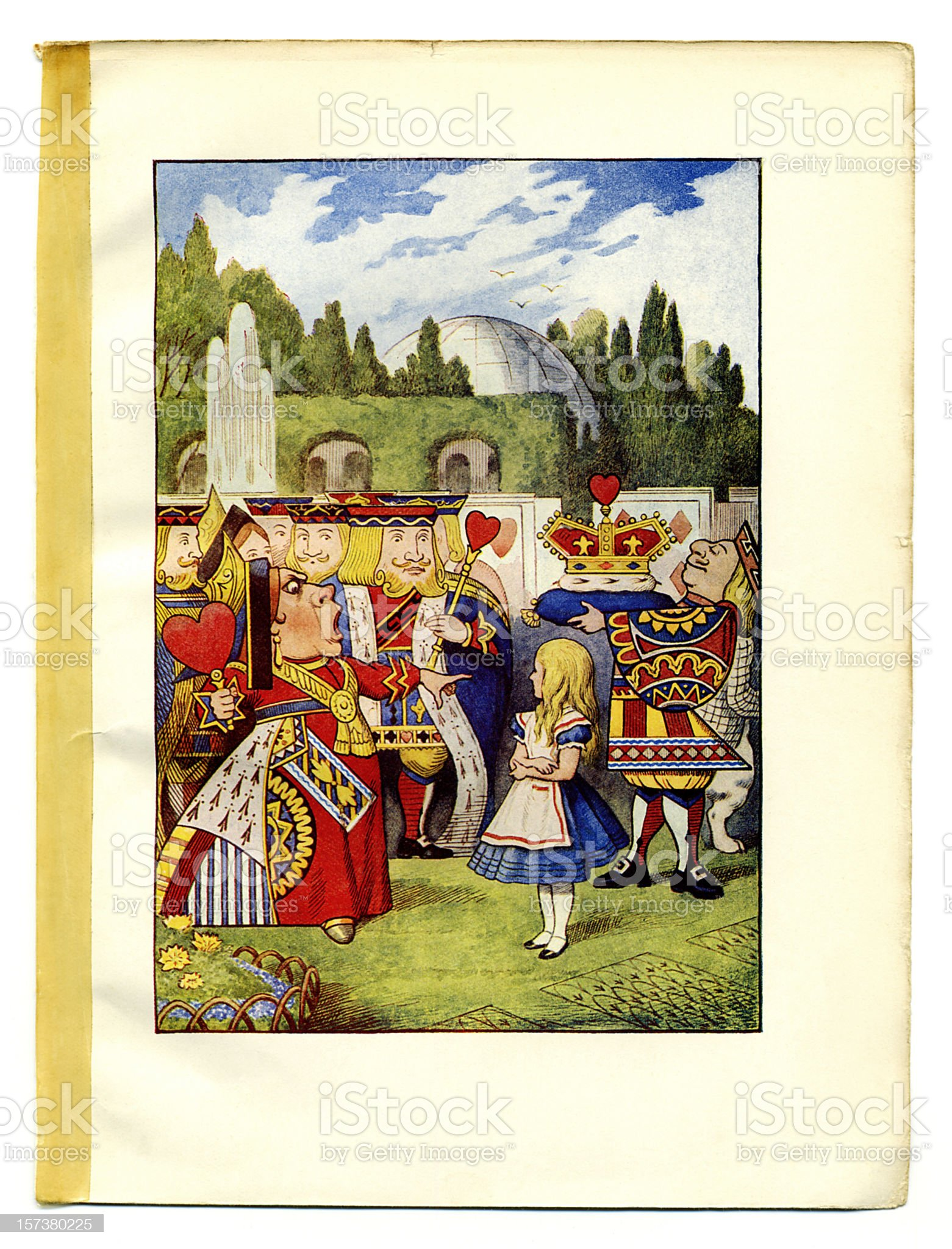 Queen of Hearts illustration, (Alice's Adventures in Wonderland) royalty-free stock vector art