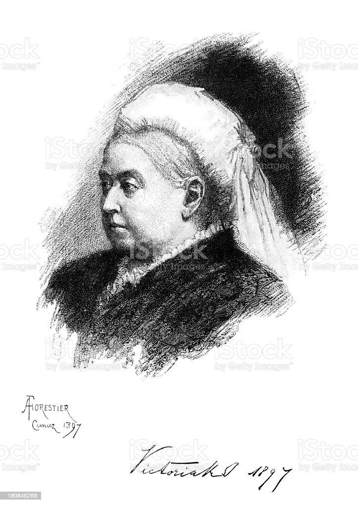 Queen Victoria royalty-free stock vector art