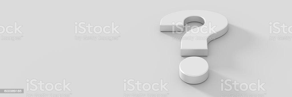 Question mark background, 3d rendering vector art illustration