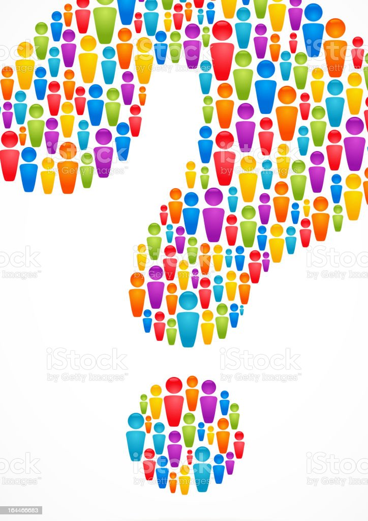 question mark with people icons royalty-free stock vector art